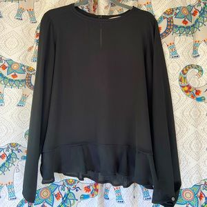 Sheer Black Blouse Top